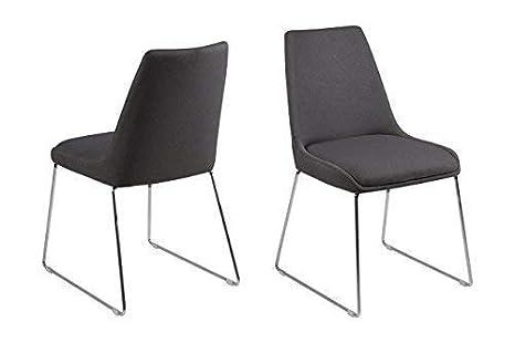 Set di due sedie sala da pranzo asilon sedie imbottito sedie