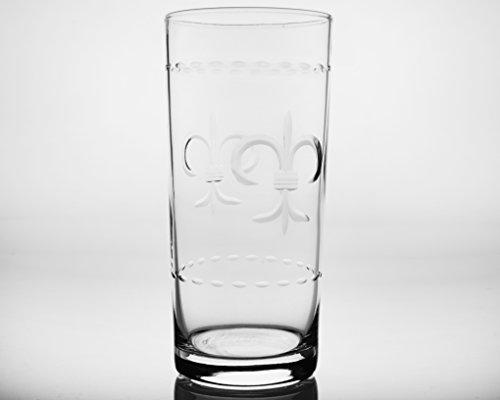 Fleur De Lis Highball - Fleur De Lis Cooler Glasses Set of 4 15oz