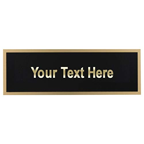 Black Brass Engraving Plate - Online Stores Blank Black-on-Brass Engraving Plate (3 PK)