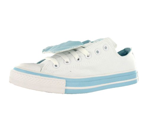 Converse All Star Chuck Taylor Double Tongue Ox Unisex Shoes Size US 5, Regular (D, M) Width, Color Sky Blue/White
