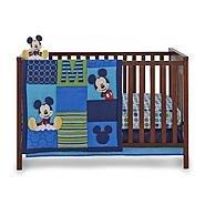 Disney Baby Infant Boy's 4-Piece Mickey Mouse Crib Bedding Set
