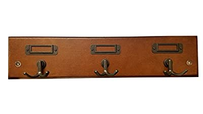 """Hook Rack with Three Double-Prong Hooks on 18"""" Rail 