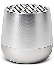 Lexon MINO + Portable Bluetooth Speaker - 3W - Charge with USB-C or QI Wireless - Hands Free Call - Selfie Control - Alu Poli
