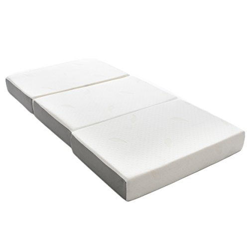 Tri Fold Futon Mattress (Milliard 6-Inch Memory Foam Tri-fold Mattress with Ultra Soft Removable Cover with Non-Slip Bottom - Twin)