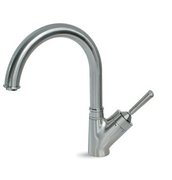 Kitchen Faucet Single Hole By Hamat   3 3358 In Stainless Steel