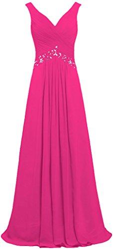 Rosa Da Formiche Ballo Gli Serata Donne Veste Senza Formale Lunga Delle Maniche V Rosa Abiti Collo B6Iqa4