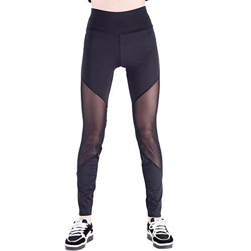 aa19dedef8e19b Tulucky Women's Full Length Mesh Workout Sports Tights Gym Yoga Pants  Leggings best
