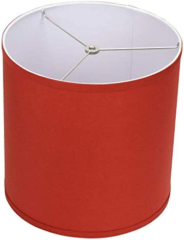 FenchelShades.com シリンダードラムランプシェード 上部直径12インチ x 底部直径12インチ 米国製 パプリカ  家電