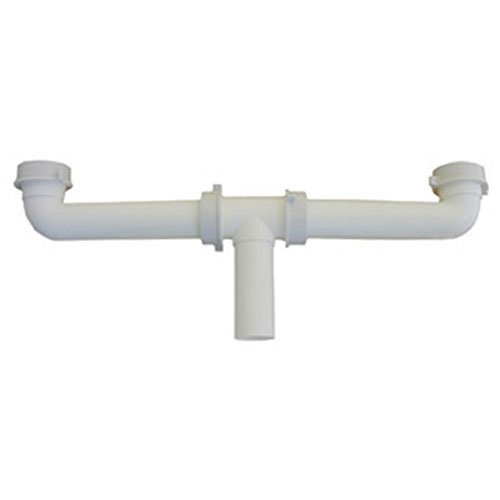 LASCO 03-4209 White Plastic Tubular 1-1/2-Inch by 16-Inch Center Outlet Drain Assembly for Kitchen Sink by LASCO