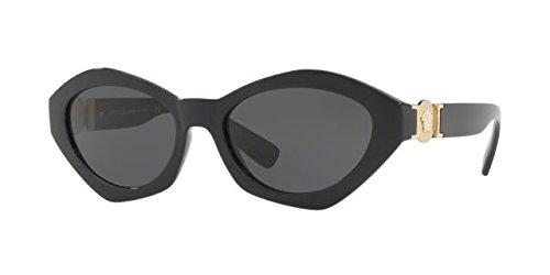 Versace Women's VE4334 Black/Grey - Sunglasses Versace 2017 Women