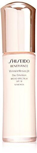 2.5 Ounce Emulsion (Shiseido SPF 18 Benefiance Wrinkle-Resist 24 Day Emulsion for Unisex, 2.5 Ounce)