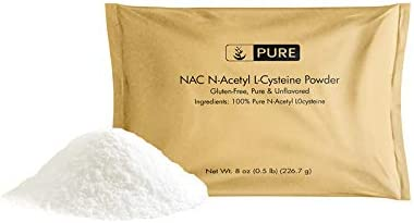 100 Pure NAC N-Acetyl L-Cysteine Powder, 8 oz, 600 mg Serving, No Fillers or Additives, Gluten-Free, Lab-Verified, Made in USA, FDA-Registered Facility, Eco-Friendly Packaging