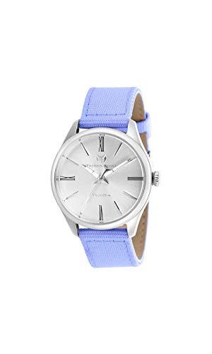 Technomarine Women's MoonSun Stainless Steel Quartz Watch with Nylon Strap, Purple, 18 (Model: TM-117011)