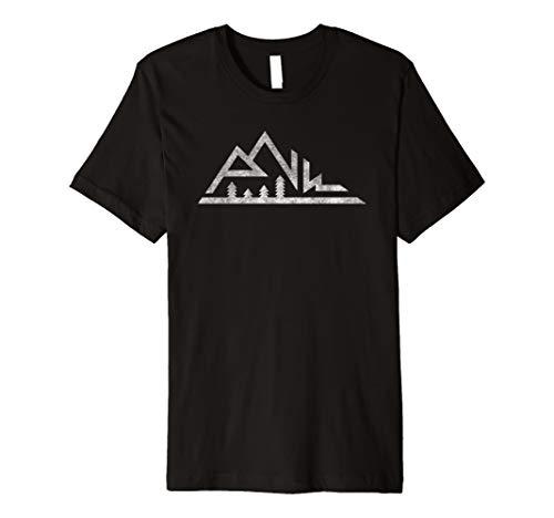 PNW Mountains T-shirt Pacific Northwest Cascadia Tree Native