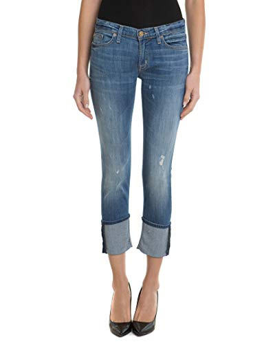 Hudson Jeans Women's Muse Crop Skinny With Five Inch-Cuff 5-Pocket Jean, Indie, 30