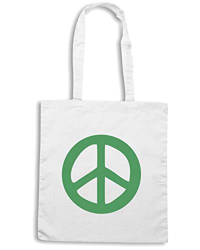 Speed Shirt Borsa Shopper Bianca TM0472 PEACE