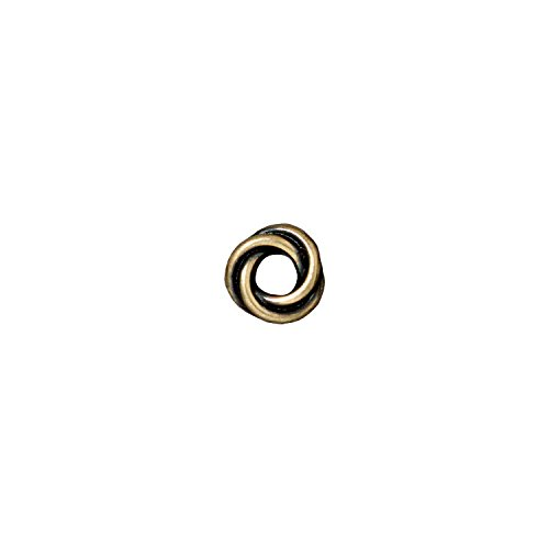 Twisted Rings Pewter - TierraCast Twisted Ring, 8mm, Antiqued Brass Oxide Finish Pewter, 6-Pack