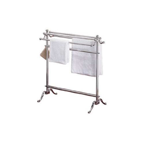 Valsan 53515CR Dos Santos Floor Free Standing 2 Towel Holder in Chrome -