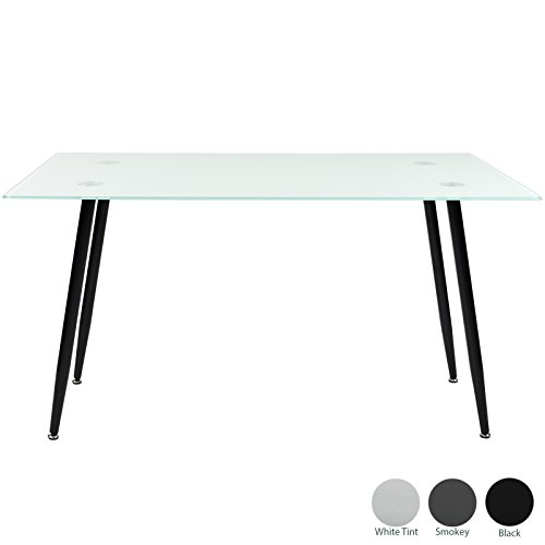 Charles Jacobs Glass Dining Room / Kitchen Table - Fits 4 Chairs - Choice Of Colours