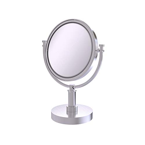 Allied Brass DM-4/4X-SCH 8-Inch Table Mirror with 4x Magnification, 15-Inch, Satin Chrome