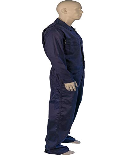 X LARGE FLAME RESISTANT NAVY COVERALLS
