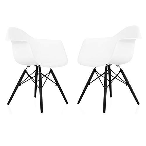 Super Amazon Com Cozyblock Set Of 2 Eames Style Daw Scandinavian Theyellowbook Wood Chair Design Ideas Theyellowbookinfo