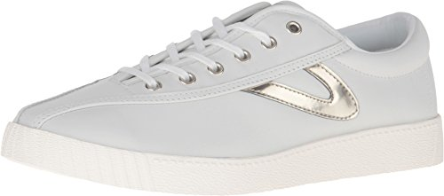 Tretorn Women's Nylite 2 Plus White/White/Gold Oxford
