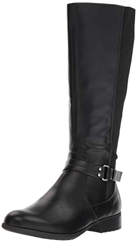 LifeStride Women's X-Anita Knee High Boot, Black, 7 M US (Best Tall Boots For Large Calves)