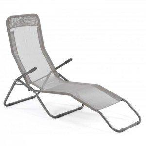 Matière Design Textilène Couleur Beverly Taupe Chaise Longue l3cT1JFK