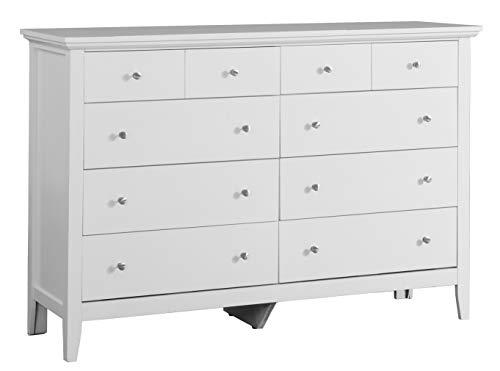 Bedroom Glory Furniture 8 Drawer Dresser White dresser