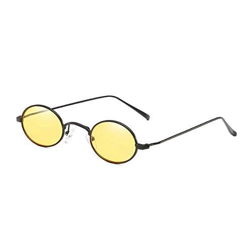 Europe États Soleil unis Sunglasses Egg Et De Cuyag Lunettes En Ms Mme Métal Shape Marin Small B Film Rondes qY6t8zw