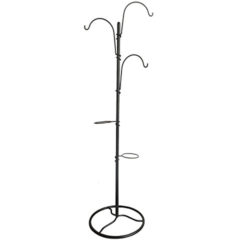 Hampton Bay 64.5 in. H Black Steel Tree Planter Stand by Hampton Bay