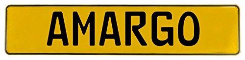 clásico partes 583835Muro Arte (amargo Amarillo con sello aluminio Street Sign Mancave)