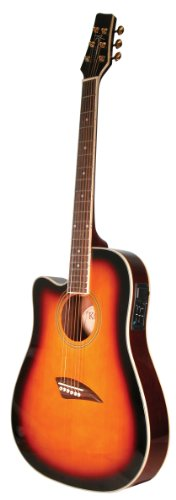 Kona K2LTSB Left-Handed Acoustic Electric Dreadnought Cutawa