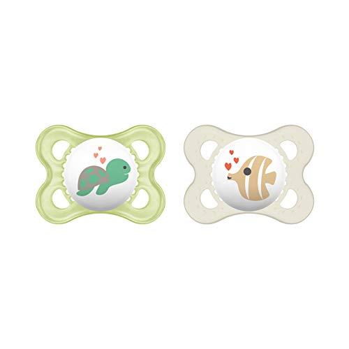 MAM Original siliconen fopspeen in een set van 2, tandvriendelijke babyspeen, speentje gemaakt van speciale MAM SkinSoft…