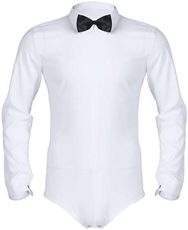 iiniim Camisa de Baile Moderno Manga Larga Hombre Traje ...