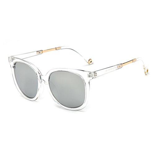 Classic Wayfarer Flash Mirrored Lenses Sunglasses for Men and Women Clear - Sunglasses Colourful Wayfarer