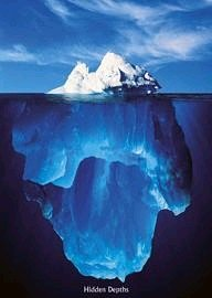 1art1® 1531 Poster Motivation Iceberg Hidden Depths 91 x 61 cm