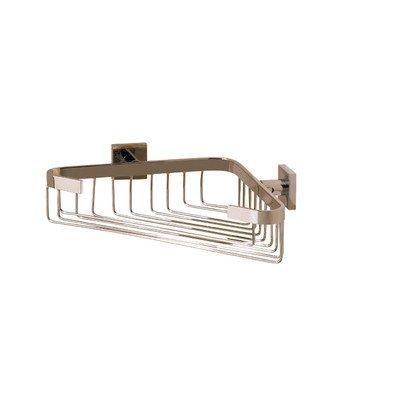 - Valsan 67689NI - Braga Polished Nickel Corner Soap Basket