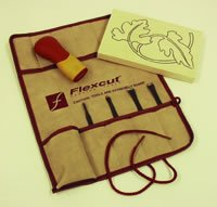 TRAVEL SET ROLL ONLY by Flexcut Tool