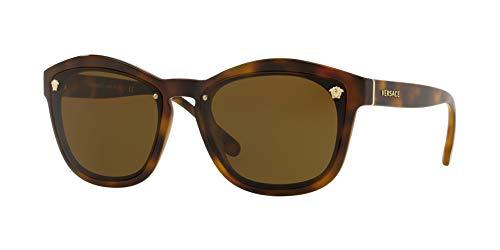 Versace Woman Sunglasses, Tortoise Lenses Nylon Frame, 57mm (Versace Eyewear)