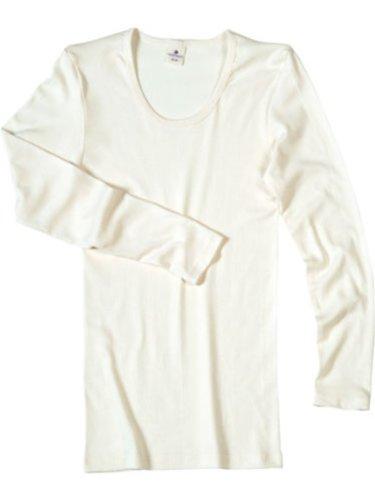 Living Crafts Damen Langarm Unterhemd aus Bio Baumwolle