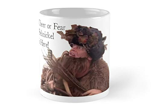 TikkGift Cheer Or Fear Belsnickel Dwight Schrute Mug Coffee | Funny Gift For Noel | Son | Boy | Dad | Mom | Xmas | Christmas | Daughter | Mother's ()