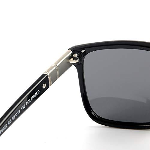 Reflets polarisées UV Anti Black Lunettes Lens Homme Soleil de Color 100 Sakuldes Gray Lunettes Gray Soleil Frame Frame Lens Clear Anti Clear de pour Black qOpw7xv7t