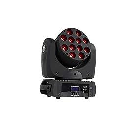 SHEHDS Moving Head Light 12x12W LED 4in1 RGBW LED Beam Rotating Head Lighting 9/16 Channels DMX512 DJ Uplighting Lights…