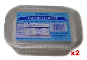 Farmer Cheese, 2 PACK (2 x 16oz (1lb)) (Best Cottage Cheese Brand)