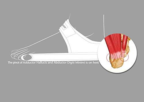 Aider Bunion Support, Comprehensive Bunion Corrector & Bunion Relief ToePal kit-5 Piece Hallux Valgus & Bunion Pads, Toe Spacers, Toe Separators, Bunion Splint, Toe Straightener (Left (black)) by Aider (Image #5)