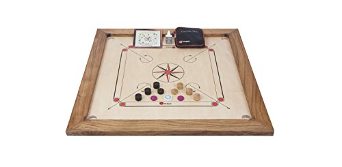 Uber Games Carrom Game Board Set- Tournament Edition