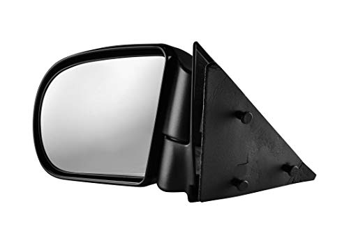 Driver Side Textured Side View Mirror for 94-04 GMC Sonoma & Chevrolet S10, 96-04 Oldsmobile Bravada, 02-05 GMC Envoy & Envoy XL, 95-05 GMC Jimmy ()