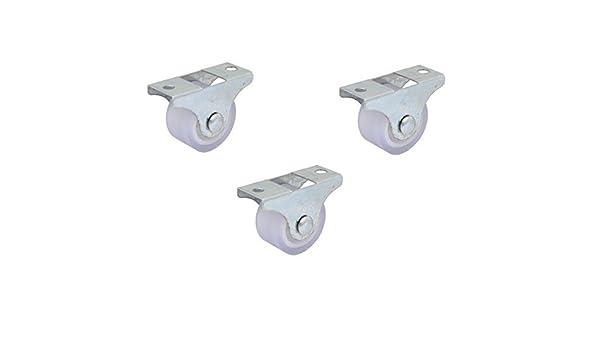 eDealMax Muebles de la carretilla 1 pulgada Dia del Hierro Placa Superior silenciosa PVC fijo 3pcs de las ruedas giratorias: Amazon.com: Industrial & ...